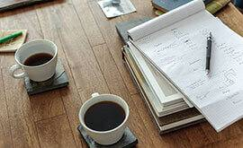 A meeting over coffee