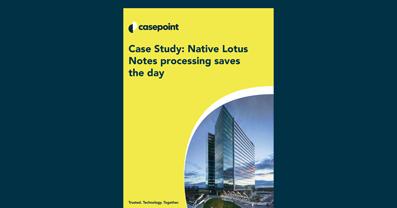 Lotus Notes Case Study